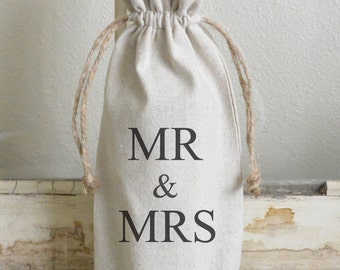 Mr & Mrs Wine Bag_personalized, wine, present, party favor, wedding favor, gift bag, party, hostess gift