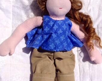 12 inch Vegan Friendly Waldorf Style Cloth Doll