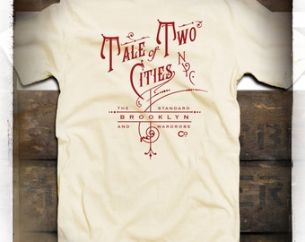 Tale of two cities Brooklyn n.y.  t-shirt   by STANDARD BROOKLYN and WARDROBE