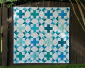 Sea Star - Digital pdf Quilt Pattern - Fat quarter, 1/4 yard, and scrap friendly - Baby, Lap, Twin, Queen, and King Sizes