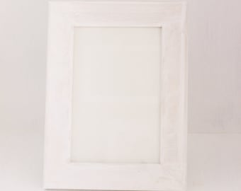 Weathered White Picture Frame