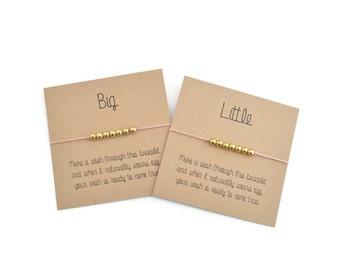 Wish Bracelet- Make a Wish Friendship Bracelet, Personalized Gift, Big Little Sorority, Christmas Stocking Stuffer, Wishing