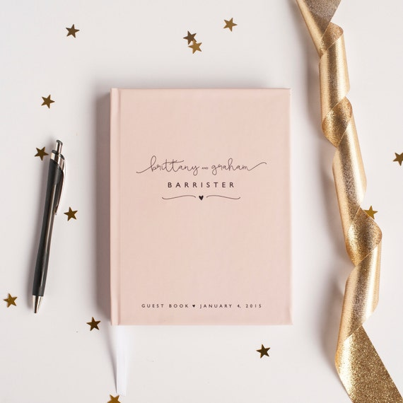 Wedding Guest Book Wedding Guestbook Custom Guest Book Personalized Customized custom design wedding gift keepsake blush pink modern rustic