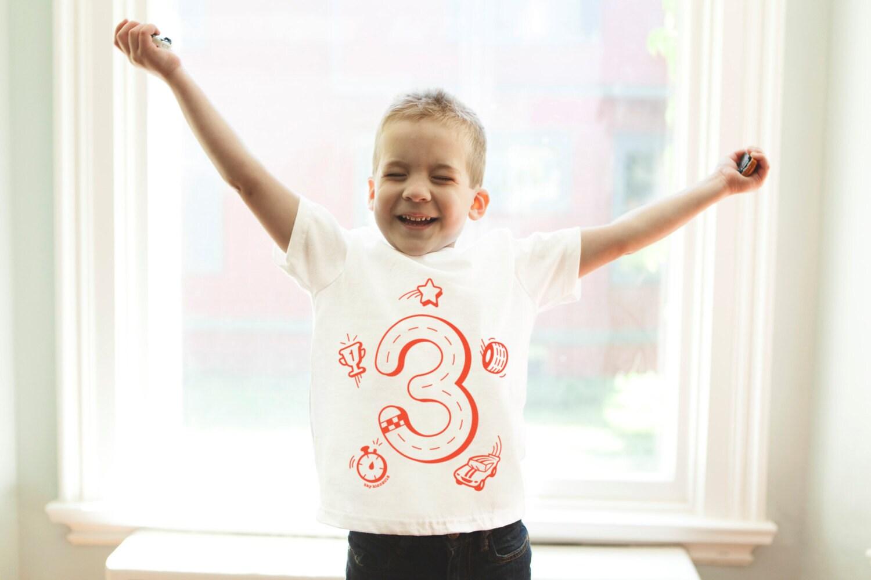 3t Race Car Birthday Shirt 3rd Boys 3
