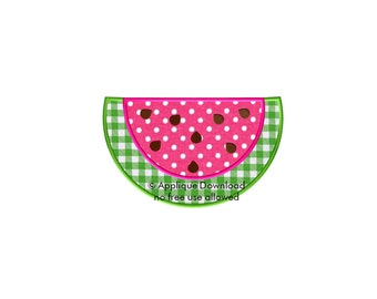 Cute Watermelon Applique Design - Instant EMAIL With Download - for Embroidery Machines