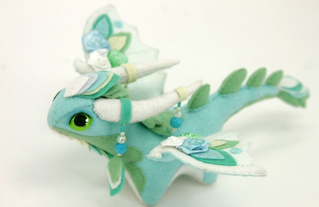 Squishy Dragon Toys : Soft toy dragon fantasy plush animal textile by UniversesSwirls