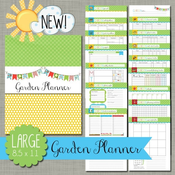 Delicate image intended for printable garden planner
