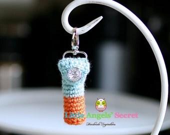Lip Balm Crochet Keychain, Keychain Lip Balm Holders, crochet keychain, Balm cozy, Chapstick cozy keychain.
