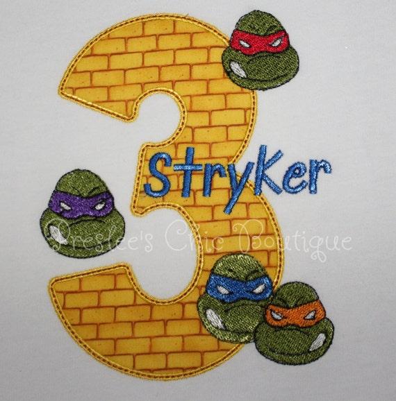 Tmnt Ninja Turtles Birthday T Shirt Or By Presleeschicboutique