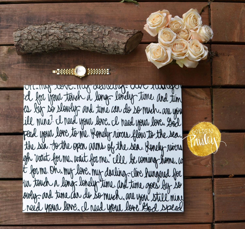 First Dance & Vows Wedding Sign Handwritten Script Canvas Wall