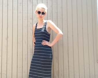 90s ribbed striped maxi