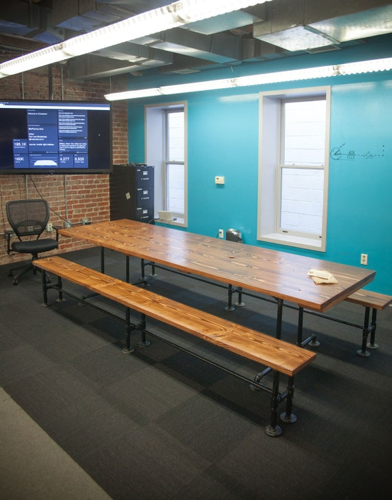 10ft industrial conference table solid wood by emmorworks for 10 ft conference room table