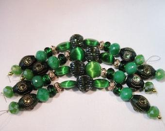 Jesse James Emerald Green Artisan Beads