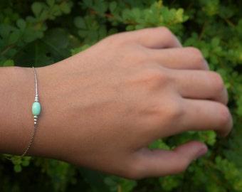 Bead Bracelets ,Mint Green Bracelets, Mint Green Bead Bracelets, Dainty Green Bracelets,Tiny Green Bracelets, Feminine Green Bracelets.