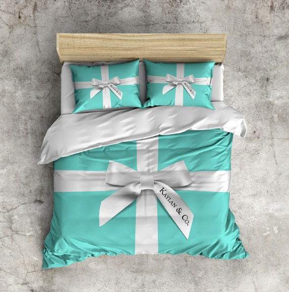 Robin Egg Blue Bedroom Ideas: Fleece Designer Inspired Robin Egg Blue Name & Co. Bedding