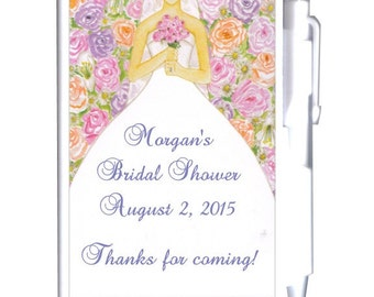 24 Bridal Notebook Favors