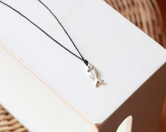 Jesus fish necklace etsy for Jesus fish necklace