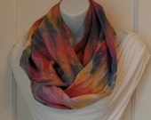FIP21: Fabric Infinity Scarf (Pink Tie Dye) FREE SHIPPING