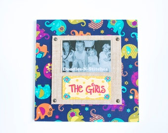 The Girls Elephant Picture Frame