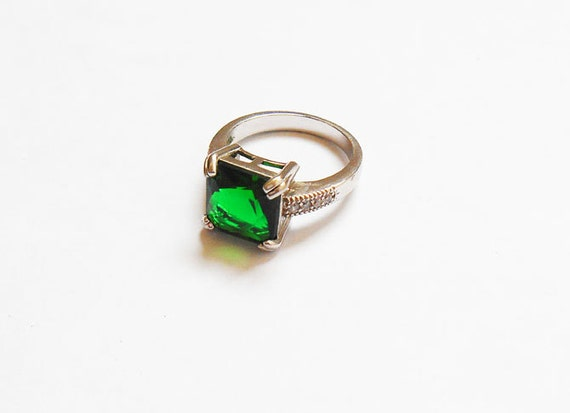 emerald engagement ring lab created emerald ring by