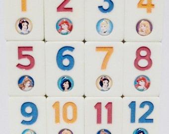 Disney's Princess Inspired Fridge Magnet Numbers Set    Educational   Cinderella Ariel Belle