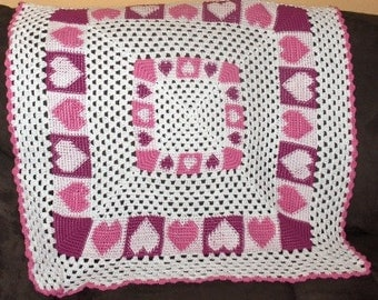New crocheted baby afghan, blanket  to order,