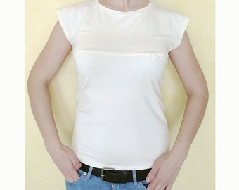 PDF Pattern Women's Summer Fitted Jersey Top/T-shirt (sizes XS-S-M-L-XL)