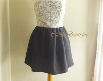 Mini Bustier Dress Ready Stock One of A Kind