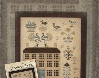 Pattern: Mansion House at Fox Hollow Cross Stitch - Country Stitches - With Thy Needle and Thread - Brenda Gervais