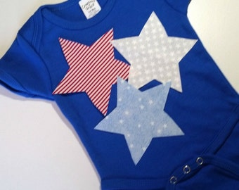 Baby Boy 4th of July Outfit, Baby Stars Outift, 4th of July Baby Girl or Boy, Stars and Stripes Baby Outfit, 4th of July Baby, Baby Girl