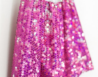 Girl Sequin Skirt, pink wedding, children's clothing, tween skirt, special occasion, tulle sequin skirt, size 3T, 4T, 5, 6, 7, 8, 10, 12