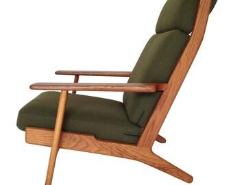 Original 1950's Hans Wegner GE 290A Oak Armchair for Getama