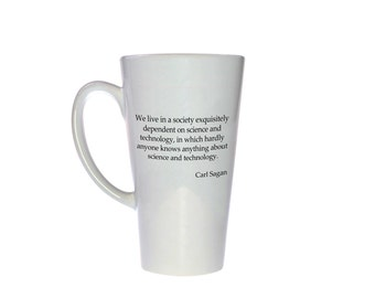 Technology Quote Statement Mug - Science and Technology Quote - 17 oz Tall Coffee or Tea Mug