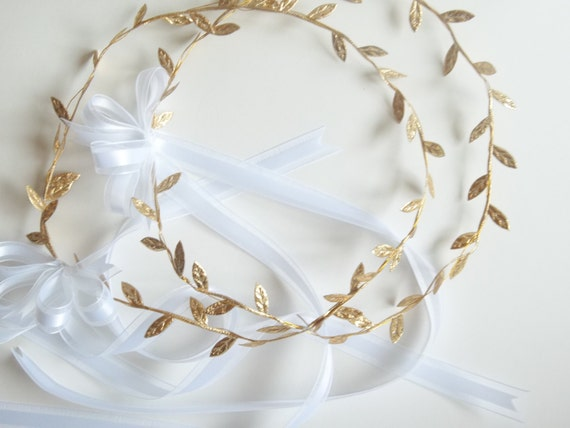 Wedding Gifts For Couple Jewellery : Gifts For The Couple / Jewelry Sets / Gold Leaf Laurel/ Hair Jewelry ...