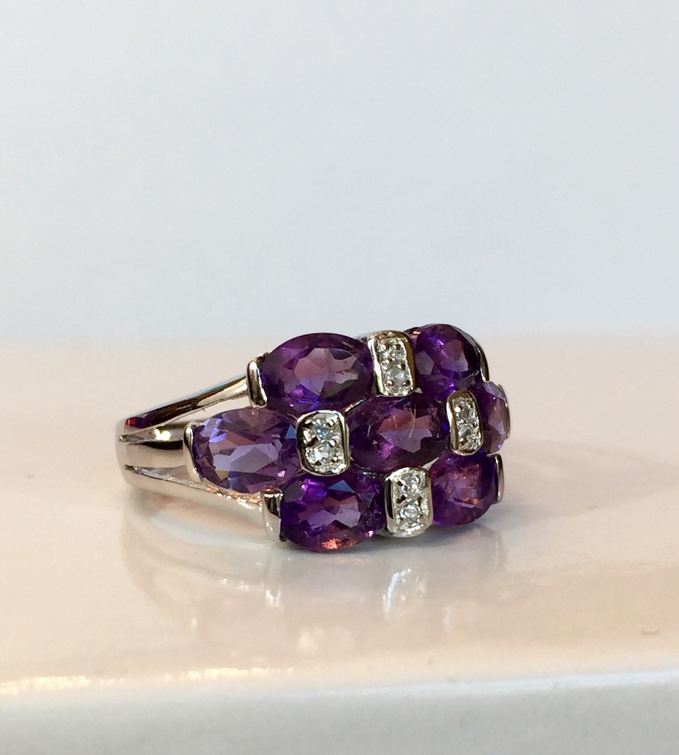 amethyst ring vintage - photo #10