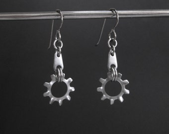 Industrial Earrings, Hardware Jewelry, Hardware Earrings, Stainless Steel Earrings, Metal Dangle Earrings, Washer Jewelry, Washer Earrings