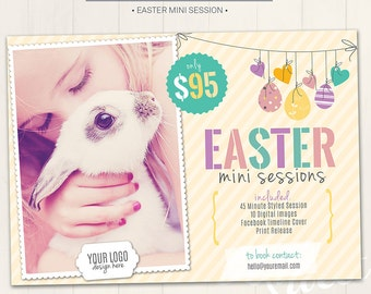 Easter Mini Session Marketing Board / Photography Marketing Board - Photoshop Template for photographers (DM19) - INSTANT DOWNLOAD