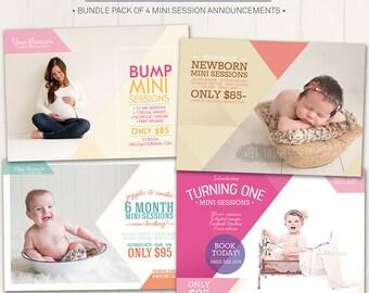 Mini Session Bundle Marketing Boards / Photography Marketing Boards - Photoshop Template for photographers (DMB1) - INSTANT DOWNLOAD