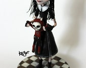 MINA and her Devil Bunny OOAK Doll