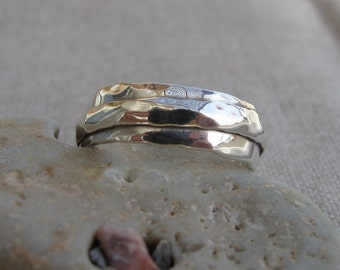Silver Ring. Handmade Sterling Silver Ring. For Men or Women. Unique design. Size 55. Band ring.