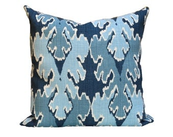 Kelly Wearstler Bengal Bazaar Designer Pillow Cover in Teal - 1 SIDED OR 2 SIDED - Choose Your Size
