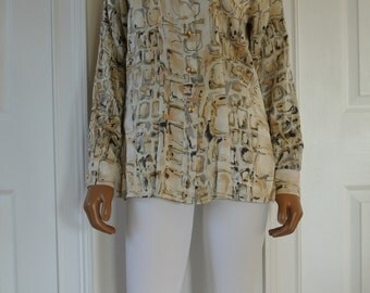 ESCADA Blouse by Margaretha Ley Silk Career blouse Size 36/Small