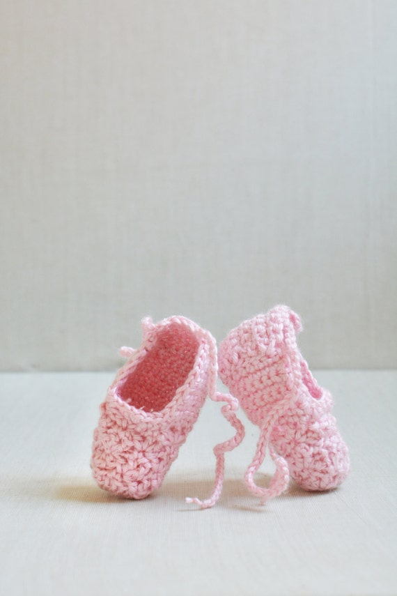 Crochet Baby Ballet Slippers Ballerina Shoes Size 0 6