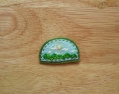 Reserved for Tash B' Gosh! Sunny Mountain Scene (Patch, Pin, Brooch, or Magnet)