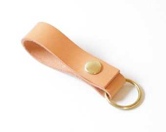 Leather Key Fob / Keychain / Leather / Brass