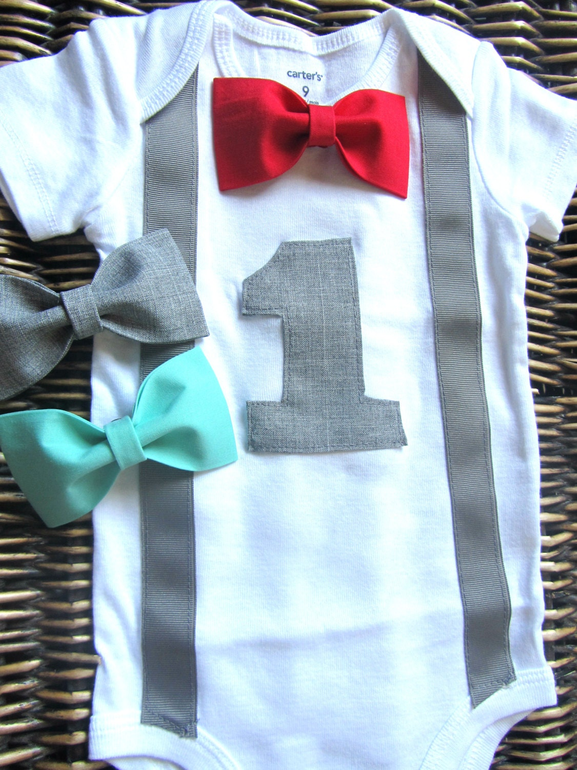 Boys First Birthday Outfit Baby Boy Clothes Gray by ...