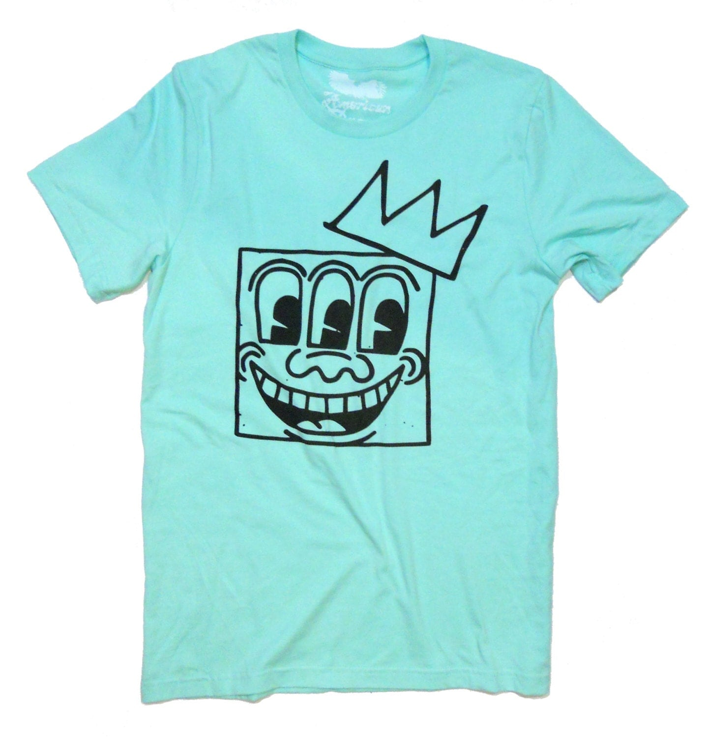art t shirt keith haring 3 eyes basquiat crown t shirt. Black Bedroom Furniture Sets. Home Design Ideas
