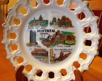 Nice Ceramic Montreal, Canada Collectable Plate