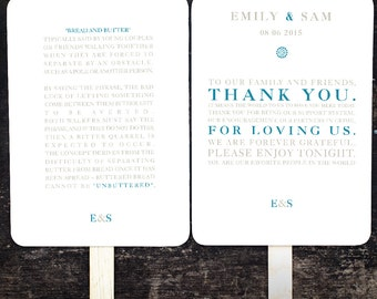 wedding program thank you messages