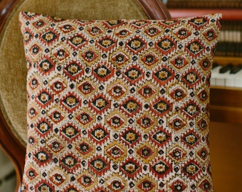 Black and Rust Aztec Pillow Cover